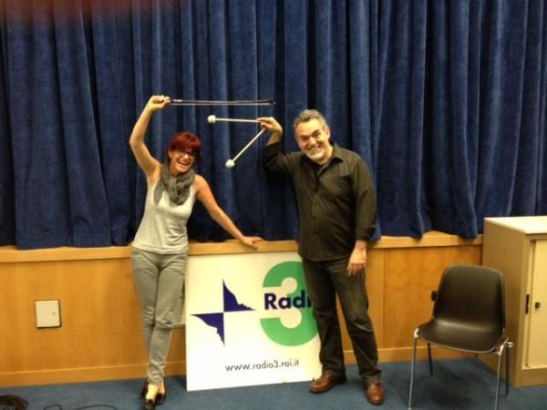 """RAI Radio3 """"La Stanza della Musica"""", per la presentazione del cd """"Masca vola via""""."""