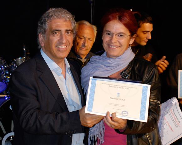 Premio S.I.A.E come migliore autore al concorso SenzaEtichetta 2011 di Cirié.